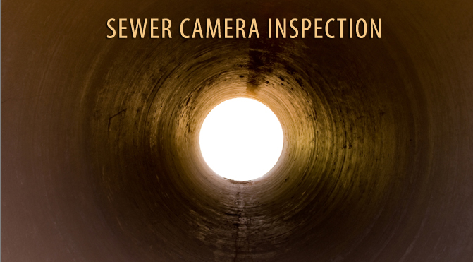 sewer line camera inspection