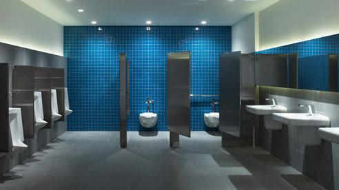 Commercial bathroom remodel