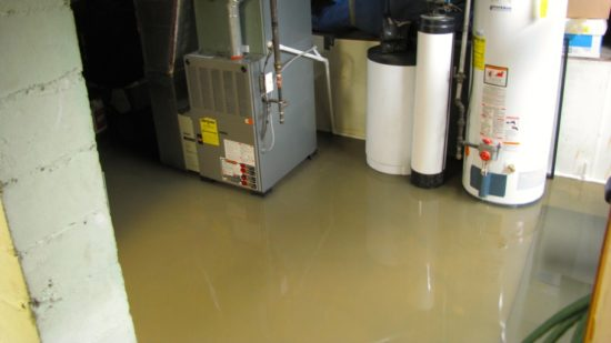 Basement Flooded Due to Standing Water